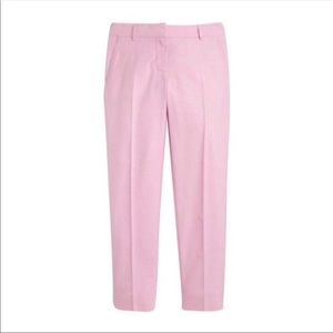 J CREW Pink Oxford Scout Skimmer Pants